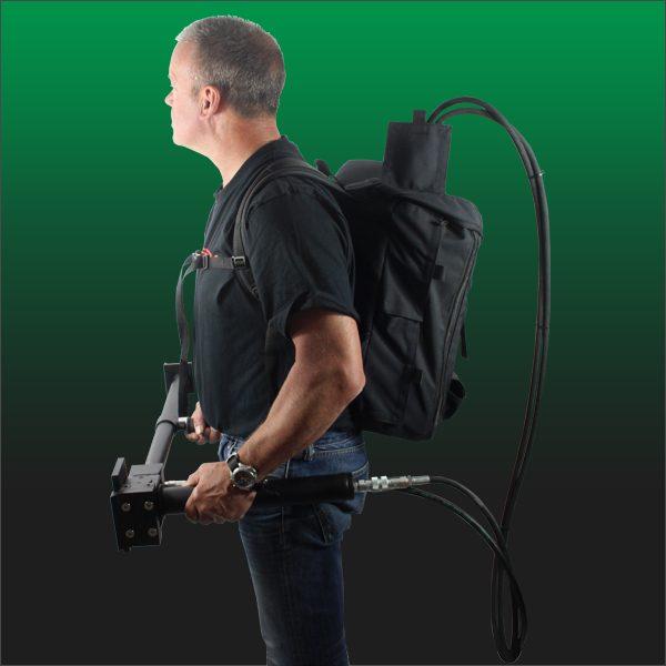 Breacher backpack side
